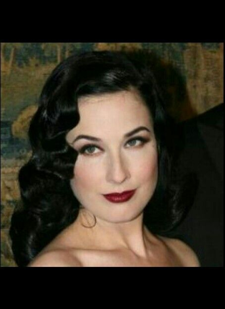 Dita Von Teese pinup makeup. The darker lips have a 20's vibe. Cute!