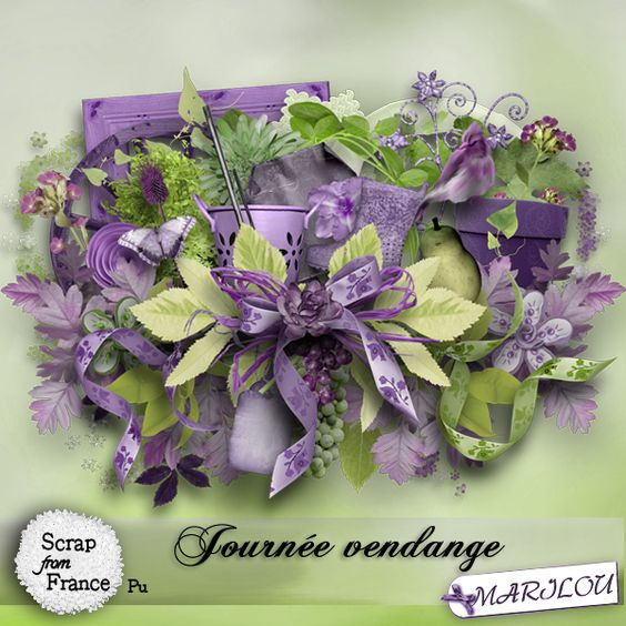 Journée vendange kit by Marilou Journée vendange kit by Marilou [marilou_journeevendange] - €1.95 : Boutique ScrapFromFrance