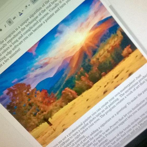 Getting caught up on some bloggy stuff. #blogging #review #spon #oilpaint #akvis #computerprograms #photoedit #tomoson