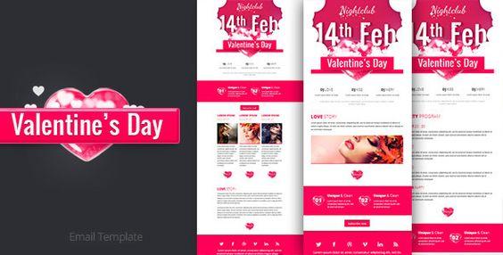 Valentine Email Marketing & Newsletter Template | Newsletter ...