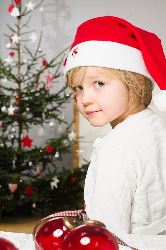 A child waiting for Christmas.