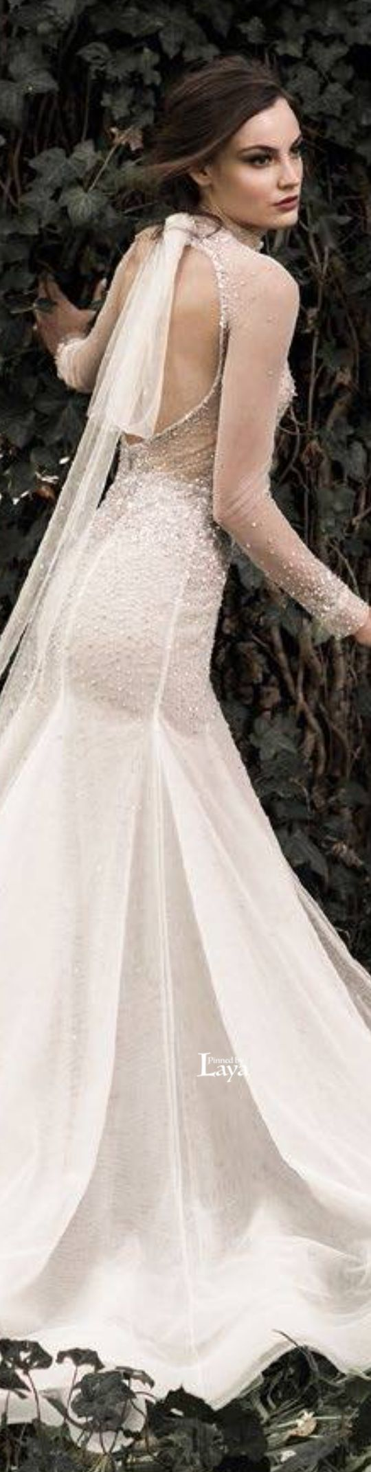 Edgy wedding dresses  Paolo Sebastian  COUTURE  White dress  Pinterest  Paolo