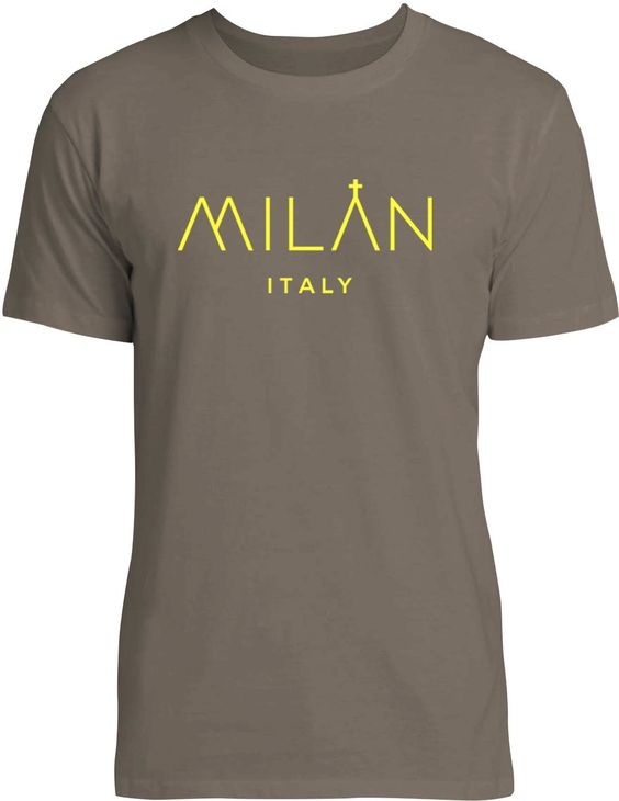 City of Milan (Yellow) Mens Fine Jersey T-Shirt