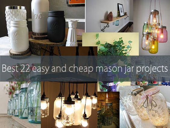 22 Mason Jar Ideas