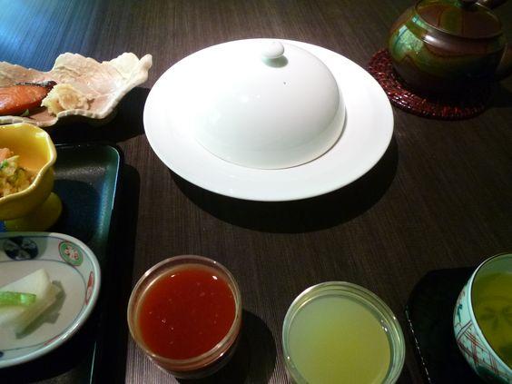 "Prima colazione,Camera di ""Takinoie""(Hotel), Noboribetsu-Onsen(Terme), Hokkaido Japan"