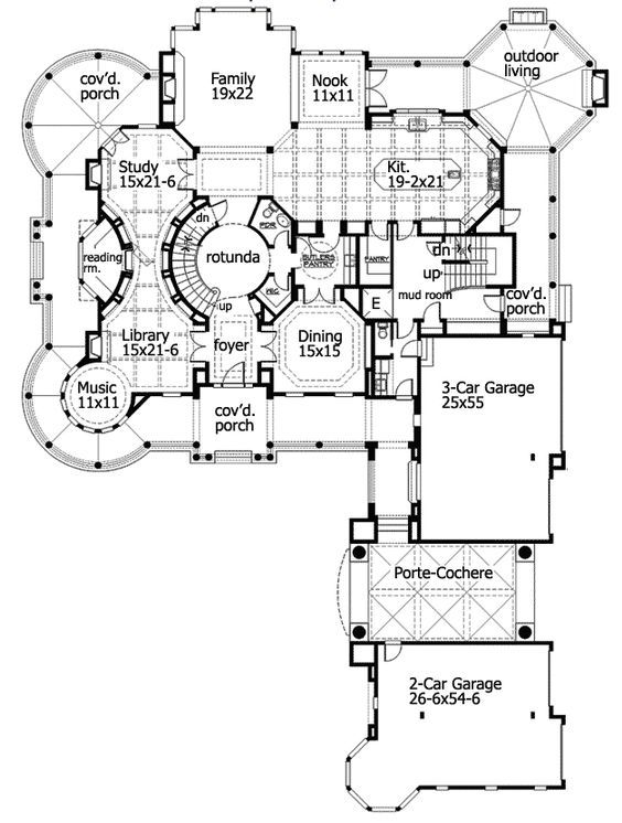 Love The Secret Reading Room Butler S Pantry 10 000 Square Foot Newport Ca Mansion Main Level Floor Plan House Plans Luxury House Plans Floor Plans
