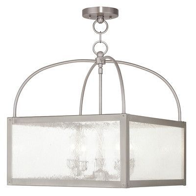 Livex Lighting Milford 5 Light Semi-Flush Mount