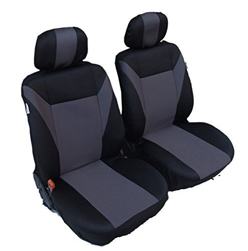 Flexzon 1 1 Universal Grey Black Front Seat Covers For Cargo Van Truck Dodge Freightliner Sprinter Vw Transporter T4 Ford Transit T4 Transporter Vw Transporter