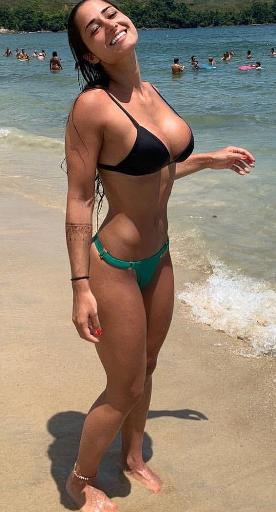 Nude beach busty