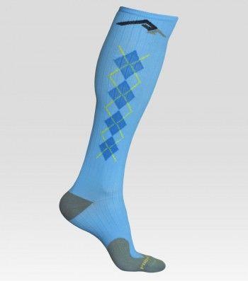 Compression socks in... argyle. :-)