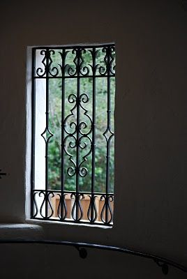 Wrought iron window grill window guard irish iron 916 for Window protector designs