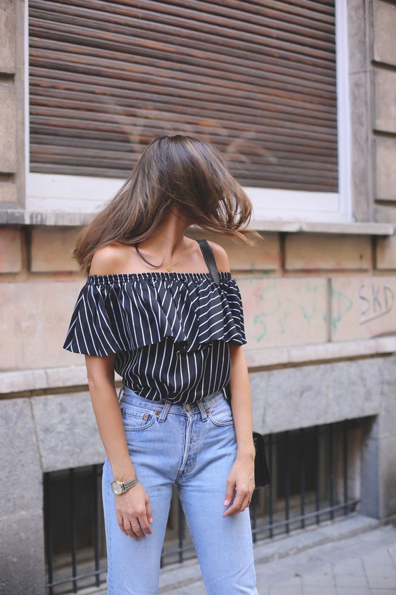 off the shoulder blouse looks - Lady Addict