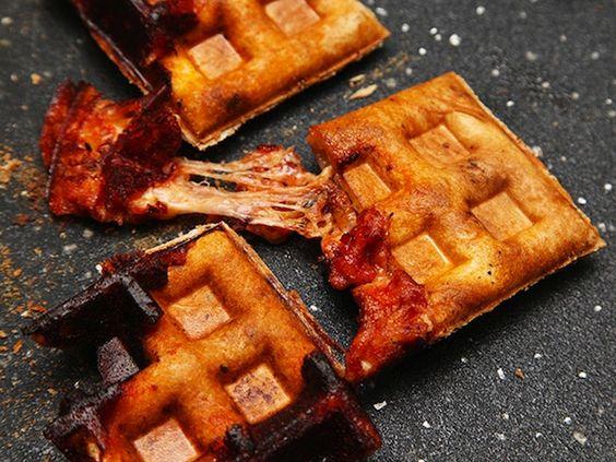 Waffle Iron + Pizza = Next Level Leftovers |Foodbeast