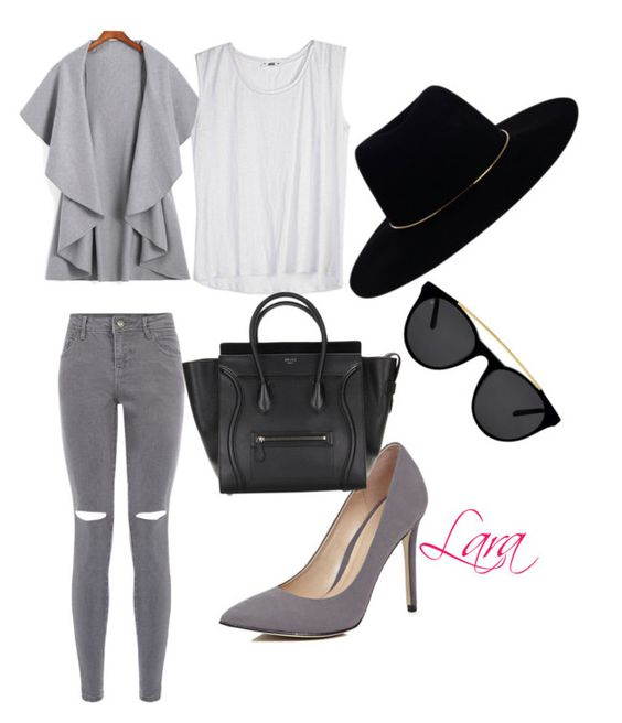"""""""Grey affair"""" by omolaragbotosho on Polyvore featuring River Island, Zimmermann and Smoke & Mirrors"""