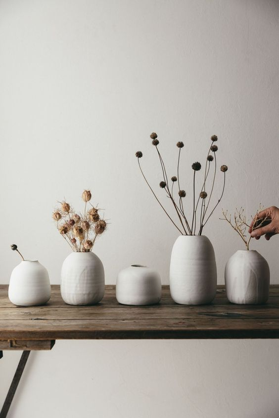 Our dream minimalist ceramic vase with a touch of the rustic and wabi-sabi..