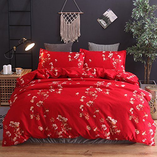 Nattey Simple Stye Duvet Cover Quilt Cover Set Bedding Set King Red Best Quilted Comforter Set Usa Duvet Cover Sets Red Duvet Cover Bedding Set
