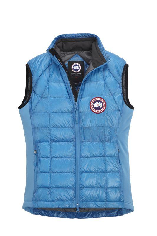 on sale canada goose vest hybridge lite for men in blue topaz