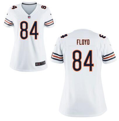 NFL Jerseys Nike - Womens Chicago Bears #84 Leonard Floyd Nike Navy White Elite 2016 ...