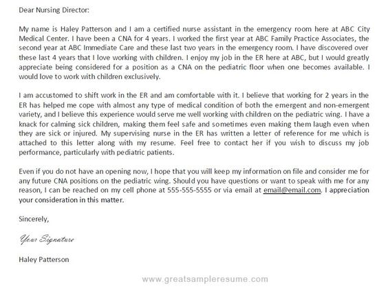 Professional Cna Resume Samples | Professional Cna Cover Letter