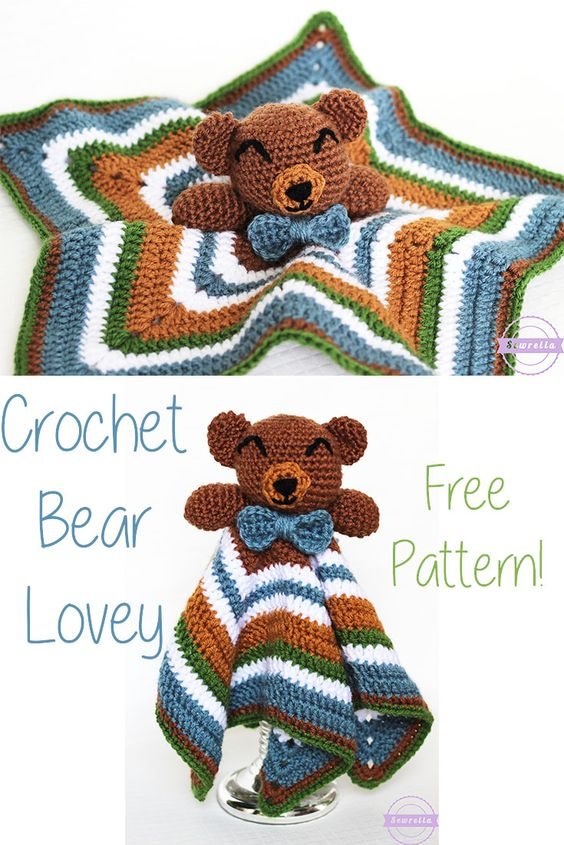 Today I have what is possibly the cutest bear lovey ever for you - that's right, I said it! He's the perfect size and oh so perfect for any little person.: