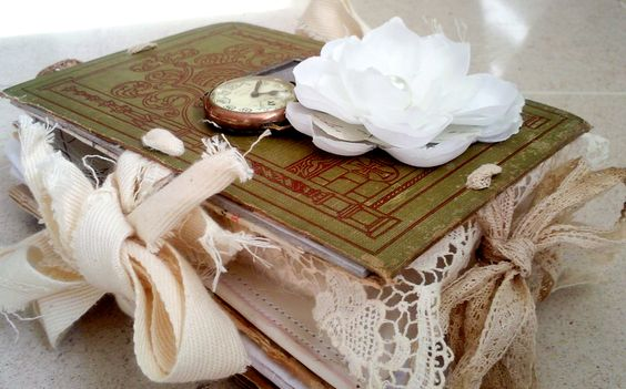 #recycled objects #home decoration #vintage decoration #scrapbooking #altered book #book cover design # book art #mixed media #recycled objects # vintage books # inspiration #hippie chic #unique gift #special present #love #original gift