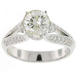 Unique round shape diamond split shank wedding rings - The Wedding Specialists