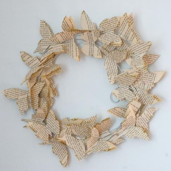 Royal Buffet on Etsy - Wing of Butterfly Wreath.