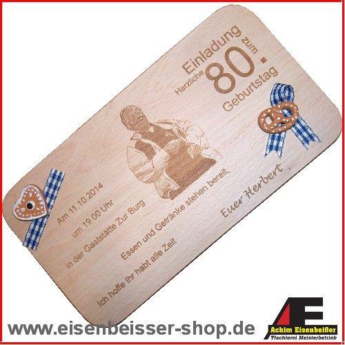 Buchenholz Vesperbrett Als Einladungskarten | Fotos Auf Holz, Lasergravur |  Pinterest