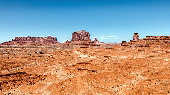 Monument Valley Desert Rocks Utah Arizona Usa Hd Wallpaper In