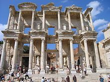 ruins of the LIbrary of Celsus in Ephesus