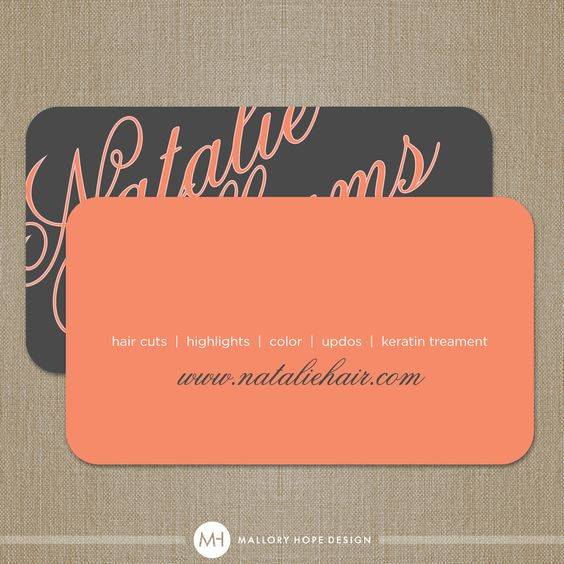 Elegant name business card calling card mommy card for Business cards hair stylist