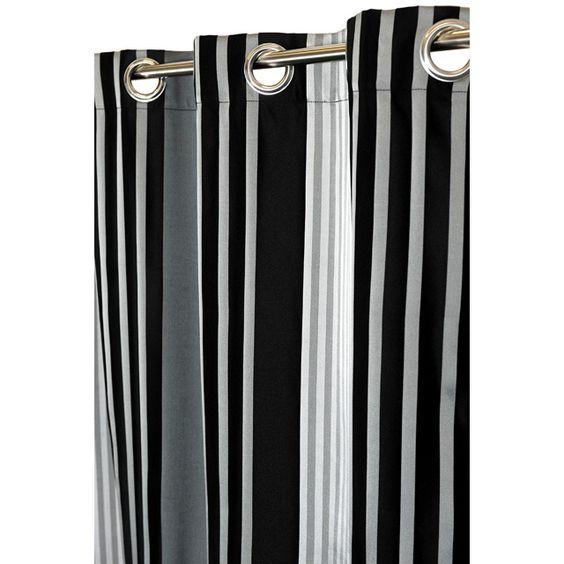 rideau tintagel 140x250 cm coloris ray noir window. Black Bedroom Furniture Sets. Home Design Ideas