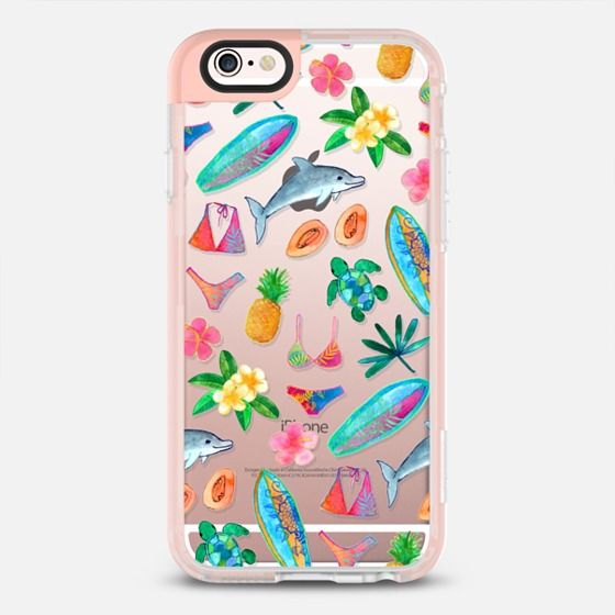 Bikini Beach - New Standard iPhone 6 Case in Peach Pink by @micklyn | @casetify