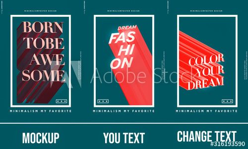 Poster Mockup 3d Effect Text Poster Mockup Text Poster