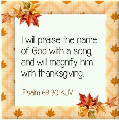 Psaln 69:30 KJV