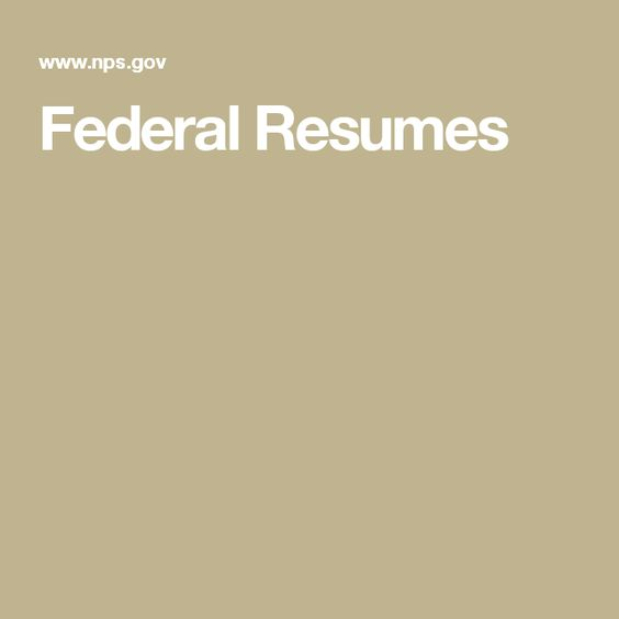 Federal Resumes Work Stuff Pinterest Federal - federal resumes