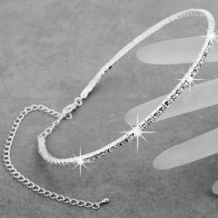 Women Bridal Wedding Rhinestones Crystal Necklace :Top luster, dazzling!