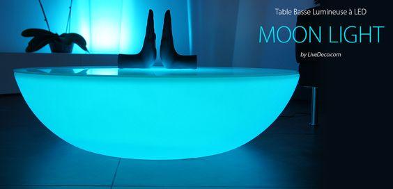Table Basse Avec Tiroir Blanche ~ Table Basse Lumineuse By LiveDeco Com #galet #design #livedeco #