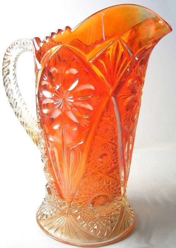 Can you name the century this piece is from? Isn't it beautiful! I love how Carnival glass holds up with age!: