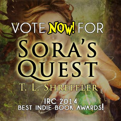 LAST DAY Vote NOW for Sora's Quest in the IRC Best Indie Book Awards!! (Click Image to vote!) http://ircbin2014.blogspot.com/2014/02/children-21-soras-quest_24.html