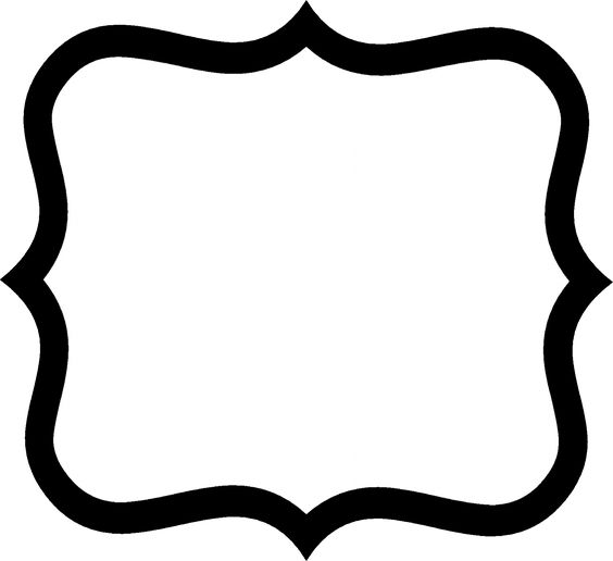 fancy shape outlines - Google Search | Gettin' Crafty with ...