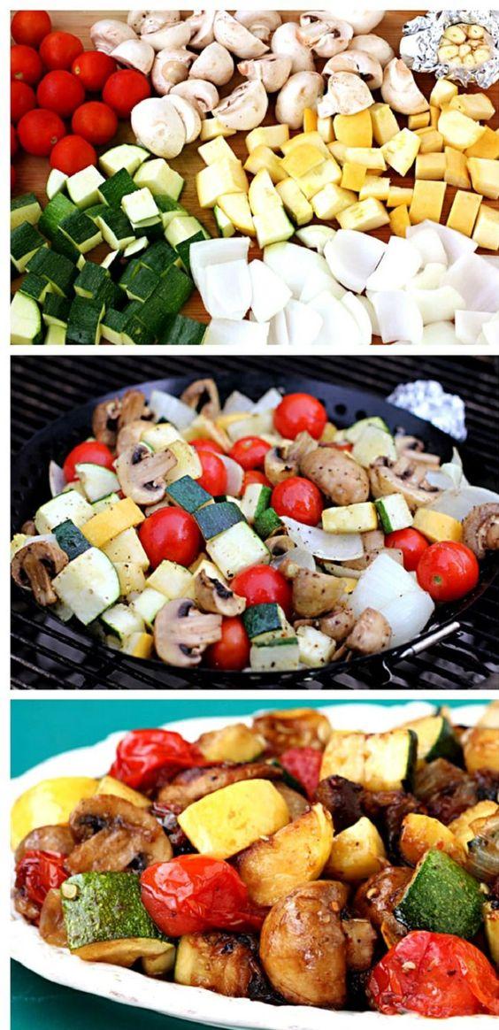 Easy Grilled Vegetables - OMIT MUSHROOMS--------------------------------------------------------------------