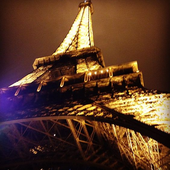 Eiffel Tower at midnight by Kim Kardashian