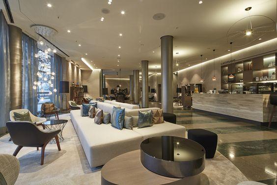 Le Méridien Hamburg: JOI-Design verleiht dem Superior Hotel an der Außenalster einen maritimen, vom Wasser geprägten Look ||  #designedbyus #HotelCouture #weloveDesign #InteriorDesign