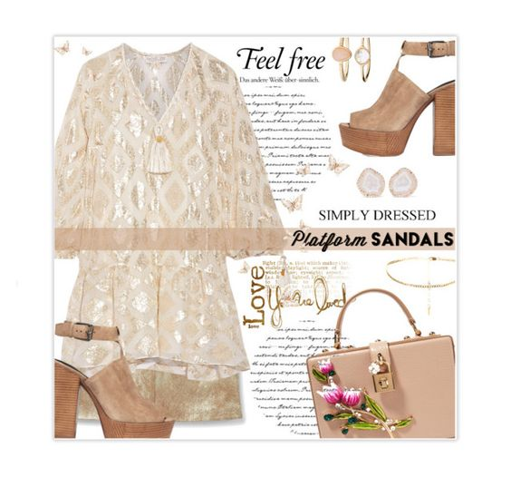 """S t a n d  Up! P l a t f o r m  Sandals"" by nonniekiss ❤ liked on Polyvore featuring MANGO, Rachel Zoe, Rebecca Minkoff, Accessorize, Kimberly McDonald and Dolce&Gabbana"