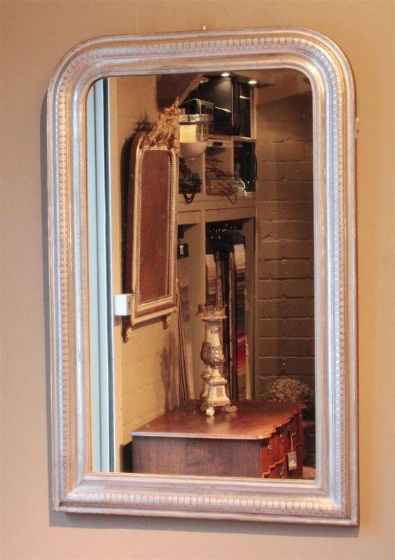 antike-franz-sische-blattsilber-spiegel