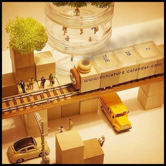 2.28 tue -Urban station-  機関車トー○スシリーズ。 今日は都会の駅風に作ってみました。  おはようござんす〜