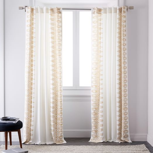 Echo Print Curtains Set Of 2 Gold Dust Wall Decor Bedroom