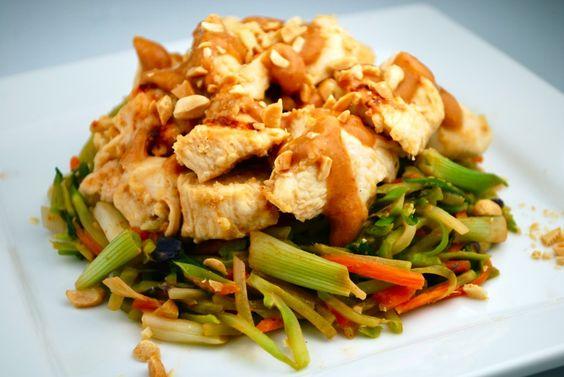 Asian chicken and veggies