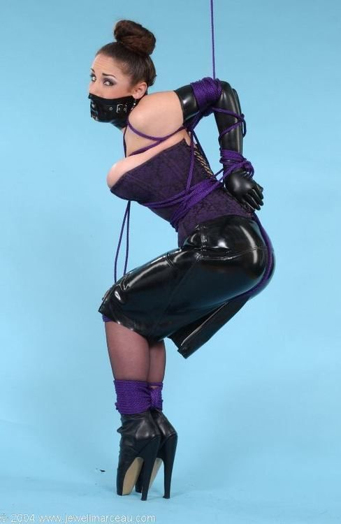 Jewell In A Nice Gag Corset And Ballet Boots D